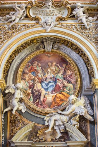 Photo  ROME, ITALY - MARCH 12, 2016: The fresco of Pentecost in church Chiesa di Santa Maria dell Orto by A