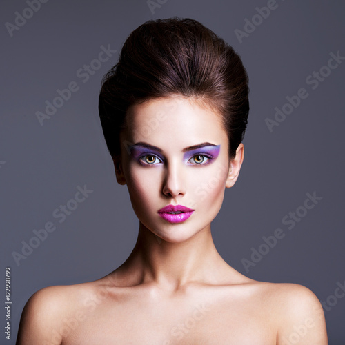 Keuken foto achterwand Beauty Fashion portrait of a beautiful girl with creative hairstyle an