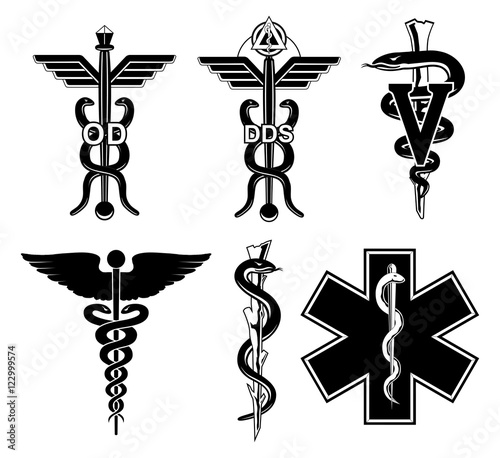 Medical Symbols Graphic Is An Illustration Of Six Medical Symbols