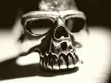 Super Macro On Silver Skull Ring