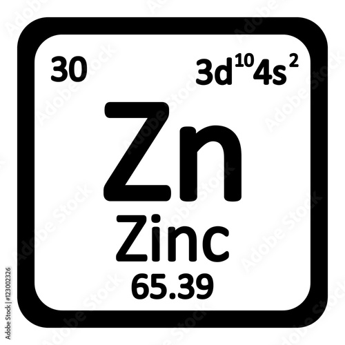 Periodic table element zinc icon buy this stock vector and periodic table element zinc icon urtaz Images