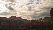 Time Lapse Of Evening Sky Over Boynton Canyon Vortex In Sedona, AZ -Zoom Out-