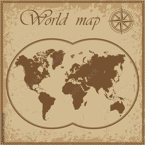 Foto op Canvas Wereldkaart Old map of the world