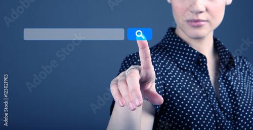 Fotografia  SEO - search engine optimization and web search concept