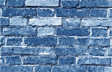Weathered Blue Toned Brick Wall Surface.
