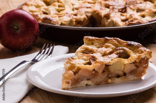 Photo  apple pie slice