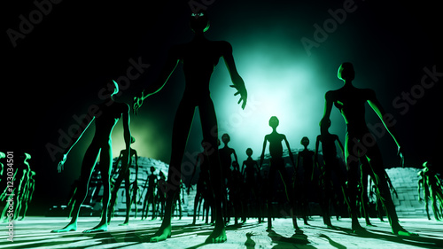 Fotografia  Alien Leader and Army