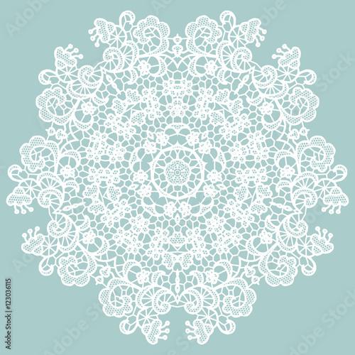 Valokuva  Round lacy doily.
