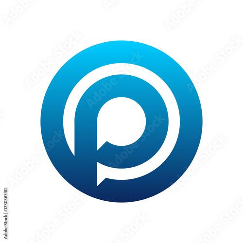 Modern P Circle Talk Dialog Logo Buy This Stock Vector And Explore