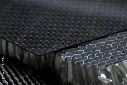 Carbon fiber composite material background Poster