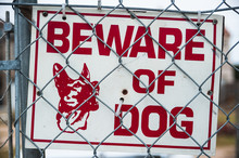 Beware Of Guard Dog Sign On C...