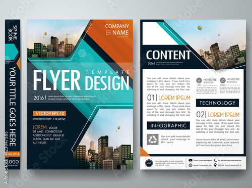 cover book portfolio presentation brochure design template vector, Template Presentation Brochure, Presentation templates