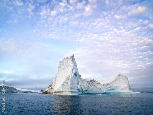 Poster Glaciers Icebergs on arctic ocean in Ilulissat icefjord, Greenland
