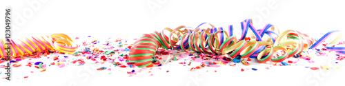 In de dag Carnaval Konfetti und Luftschlangen