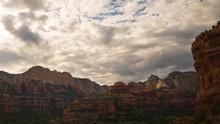 Time Lapse Of Evening Sky Over Boynton Canyon Vortex In Sedona, AZ -Long Shot-