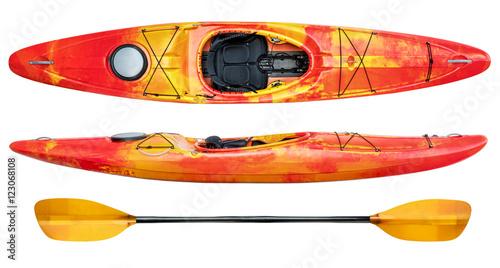 Vászonkép crossover whitewater kayak isolated