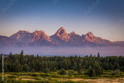 Fotografia, Obraz Grand Teton Mountains