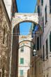 Street of the old town of Alghero, Sardinia, Italy