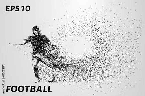 Juliste  Silhouette of a football player from the particles