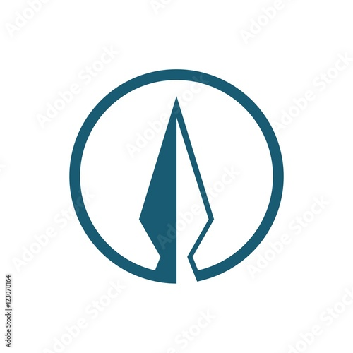 Photo arrowhead in the circle for logo, arrowhead design logo