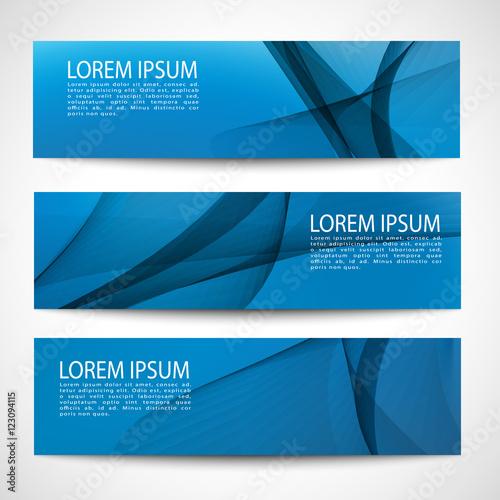 Fototapeta Abstract header white wave blue background vector design obraz
