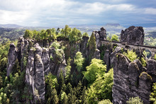Germany. Bastei Bridge, Saxony...