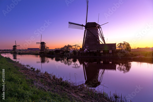 Aluminium Prints Mills Windmühlen bei Kinderdijk