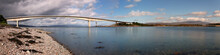 Panoramic View Of The Skye Bridge (Isle Of Skye, Scotland)