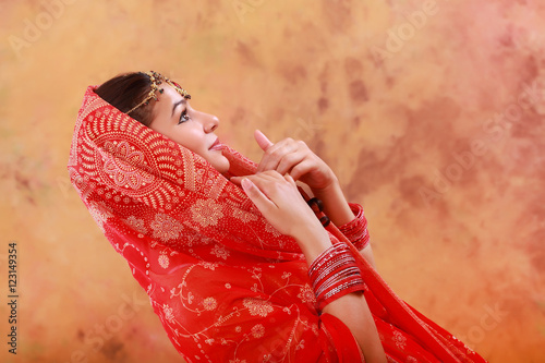 a02fcd4884 beautiful Indian girl in traditional dress - Buy this stock photo ...