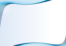 カラフルなラインアート フレーム(ブルー)