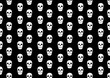 canvas print picture - Halloween Background Pattern Skull Black