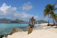 Caribbean Beach With Palm Tree...