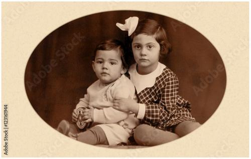 Fotografia  Geschwisterpaar anno 1935