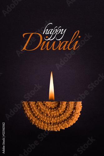 Happy diwali or happy deepawali greeting card made by showing diya happy diwali or happy deepawali greeting card made by showing diya made up of maharashtrian famous m4hsunfo
