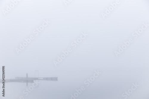 Fotografie, Obraz  Foggy morning in Barth at the Baltic Sea.