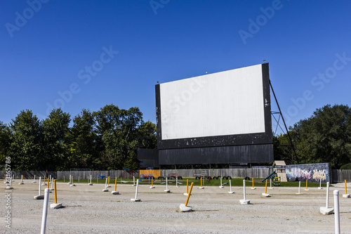 Photo  Old Time Drive-In Movie Theater with Outdoor Screen and Playground II