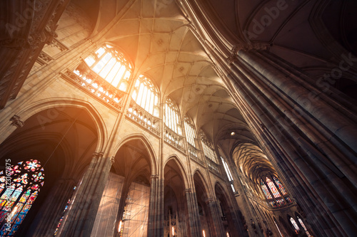 Fotografie, Obraz  touristic place of saint vitus cathedral in prague;