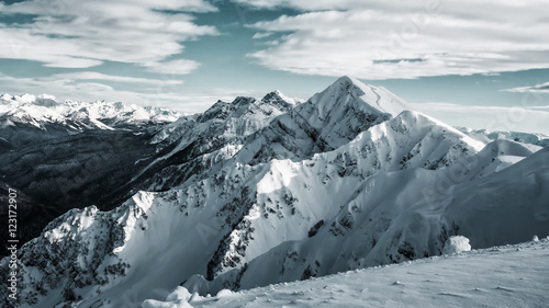 Photo  Winter mountain landscape