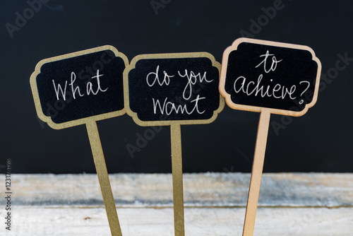 Business message WHAT DO YOU WANT TO ACHIEVE ? Poster