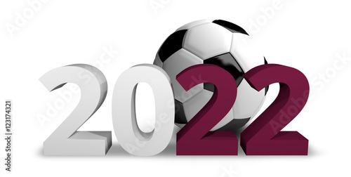 Fotografia  2022 Qatar football soccer 3d render
