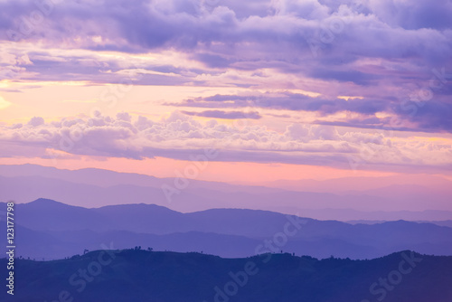 Canvas Prints Light pink Sun rise and sun set background