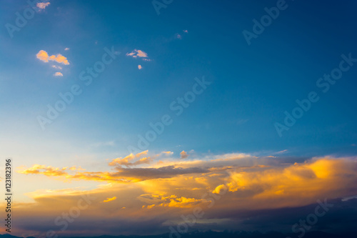 Acrylic Prints The sky with beautiful clouds.