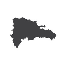 Dominican Republic Map Silhoue...