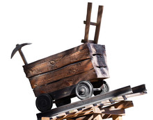Wooden Trolley With A Pick