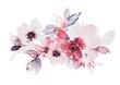 Leinwandbild Motiv Flowers watercolor illustration