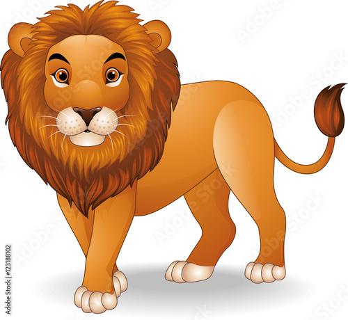 Foto op Aluminium Zoo Cartoon lion character