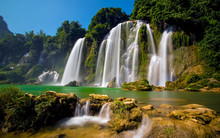 Bangioc Waterfall In Caobang, ...