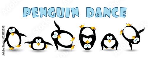 Fotografie, Obraz  happy penguin dance at party