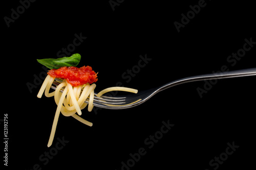 Pasta in black background. Fototapete