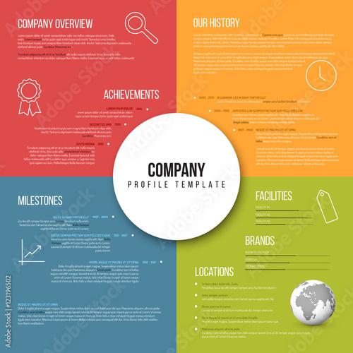 Fototapeta Vector Company infographic overview design template